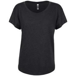 vaatteet Naiset Lyhythihainen t-paita Next Level NX6760 Vintage Black