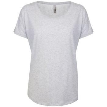 vaatteet Naiset Lyhythihainen t-paita Next Level NX6760 Heather White