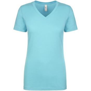 vaatteet Naiset Lyhythihainen t-paita Next Level NX1540 Tahiti Blue
