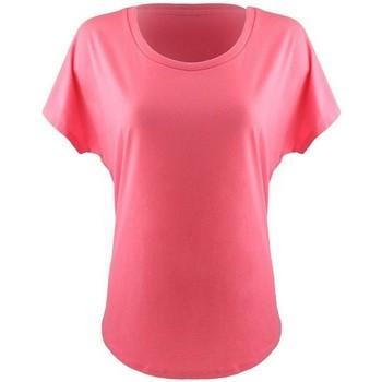 vaatteet Naiset Lyhythihainen t-paita Next Level NX1560 Hot Pink