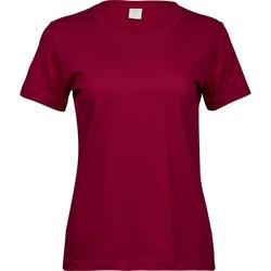 vaatteet Naiset Lyhythihainen t-paita Tee Jays T8050 Deep Red