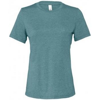 vaatteet Naiset Lyhythihainen t-paita Bella + Canvas BL6400 Deep Teal Heather