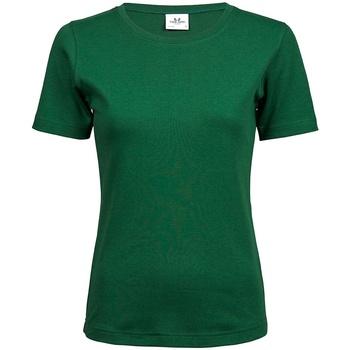 vaatteet Naiset Lyhythihainen t-paita Tee Jays T580 Forest Green