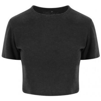 vaatteet Naiset Lyhythihainen t-paita Awdis JT006 Heather Black