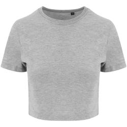 vaatteet Naiset Lyhythihainen t-paita Awdis JT006 Heather Grey