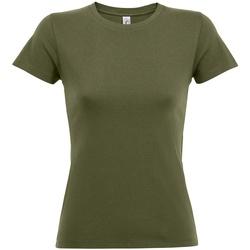 vaatteet Naiset Lyhythihainen t-paita Sols 01825 Army