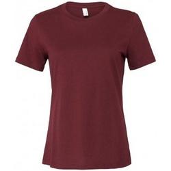 vaatteet Naiset Lyhythihainen t-paita Bella + Canvas BL6400 Maroon