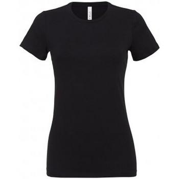 vaatteet Naiset Lyhythihainen t-paita Bella + Canvas BL6400 Black
