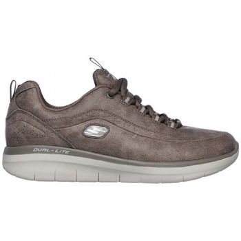 kengät Naiset Matalavartiset tennarit Skechers SYNERGY 2.0 12934 Brown