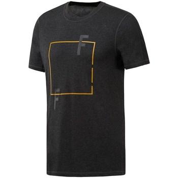 vaatteet Miehet Lyhythihainen t-paita Reebok Sport Crossfit Move Tee Mustat