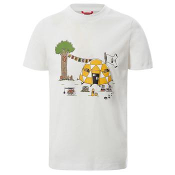 vaatteet Pojat Lyhythihainen t-paita The North Face GRAPHIC TEE Valkoinen