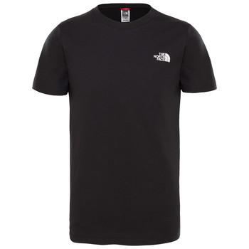 vaatteet Pojat Lyhythihainen t-paita The North Face SIMPLE DOME TEE Musta