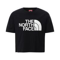 vaatteet Tytöt Lyhythihainen t-paita The North Face EASY CROPPED TEE Musta