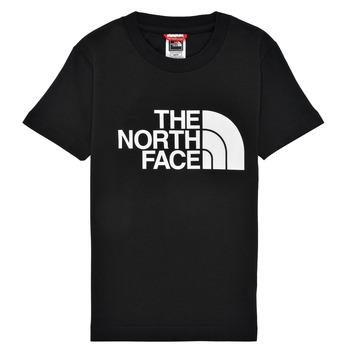 vaatteet Pojat Lyhythihainen t-paita The North Face EASY TEE Musta