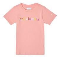 vaatteet Tytöt Lyhythihainen t-paita Columbia SWEET PINES GRAPHIC Vaaleanpunainen