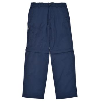 vaatteet Pojat 5-taskuiset housut Columbia SILVER RIDGE IV CONVERTIBLE PANT Laivastonsininen