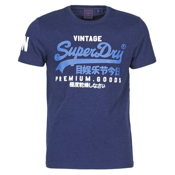 vaatteet Miehet Lyhythihainen t-paita Superdry VL NS TEE Sininen