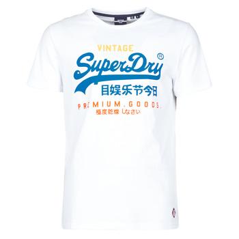 vaatteet Miehet Lyhythihainen t-paita Superdry VL TRI TEE 220 Valkoinen