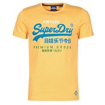 vaatteet Miehet Lyhythihainen t-paita Superdry VL TRI TEE 220 Keltainen