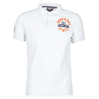 vaatteet Miehet Lyhythihainen t-paita Superdry CLASSIC SUPERSTATE S/S POLO Harmaa
