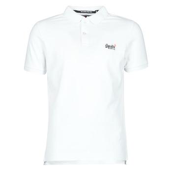 vaatteet Miehet Lyhythihainen t-paita Superdry CLASSIC PIQUE S/S POLO Valkoinen