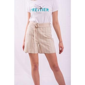 vaatteet Naiset Shortsit / Bermuda-shortsit Fracomina FR20SM566 Väritön