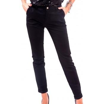 vaatteet Naiset Chino-housut / Porkkanahousut Fracomina F120W10050W02401 Musta