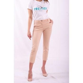 vaatteet Naiset Chino-housut / Porkkanahousut Fracomina FR20SPCTINA14 Beige