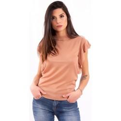 vaatteet Naiset Lyhythihainen t-paita Fracomina FR20SM806 Väritön