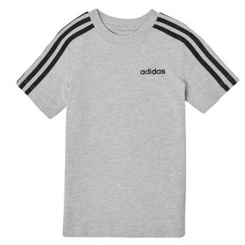 vaatteet Pojat Lyhythihainen t-paita adidas Performance YB E 3S TEE Harmaa