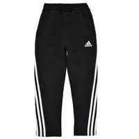 vaatteet Pojat Verryttelyhousut adidas Performance B 3S TAPERED P Musta