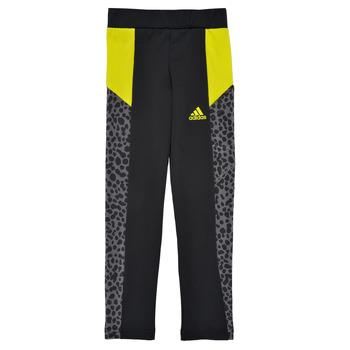 vaatteet Tytöt Legginsit adidas Performance G LEO TIG Musta