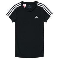 vaatteet Tytöt Lyhythihainen t-paita adidas Performance G 3S T Musta