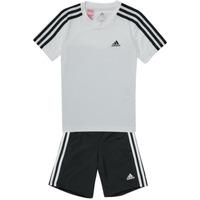 vaatteet Pojat Verryttelypuvut adidas Performance B 3S T SET Valkoinen / Musta