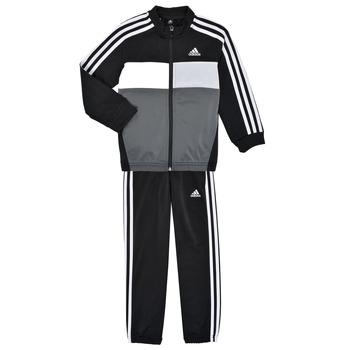 vaatteet Pojat Verryttelypuvut adidas Performance B TIBERIO TS Musta / Harmaa