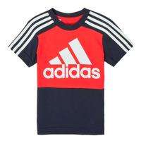 vaatteet Pojat Lyhythihainen t-paita adidas Performance B CB T Punainen / Laivastonsininen