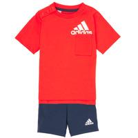vaatteet Pojat Kokonaisuus adidas Performance BOS SUM  SET Punainen / Musta