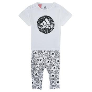 vaatteet Tytöt Kokonaisuus adidas Performance TIGHT SET Valkoinen
