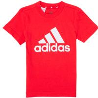 vaatteet Pojat Lyhythihainen t-paita adidas Performance B BL T Punainen