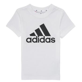 vaatteet Pojat Lyhythihainen t-paita adidas Performance B BL T Valkoinen