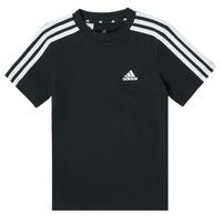 vaatteet Pojat Lyhythihainen t-paita adidas Performance B 3S T Musta
