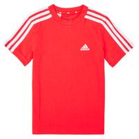 vaatteet Pojat Lyhythihainen t-paita adidas Performance B 3S T Punainen