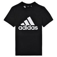 vaatteet Pojat Lyhythihainen t-paita adidas Performance B BL T Musta