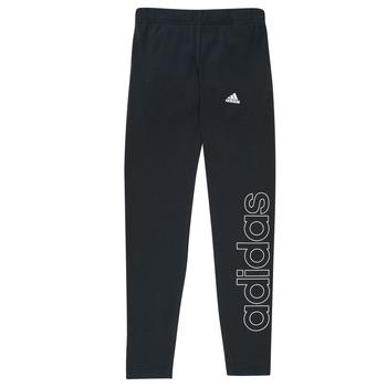 vaatteet Tytöt Legginsit adidas Performance G LIN LEG Musta