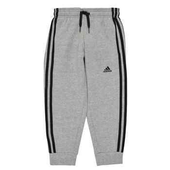 vaatteet Pojat Verryttelyhousut adidas Performance B 3S FL C PT Harmaa