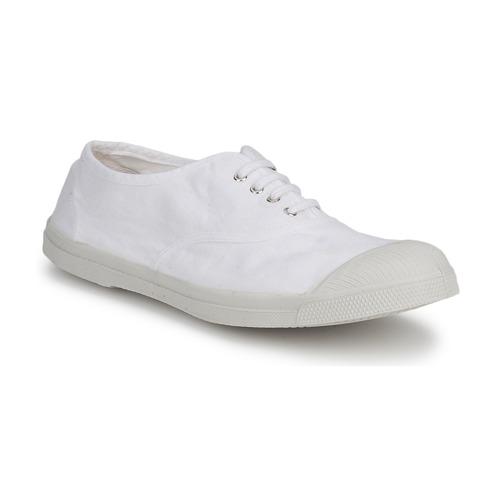 kengät Miehet Matalavartiset tennarit Bensimon TENNIS LACET White