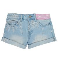 vaatteet Tytöt Shortsit / Bermuda-shortsit Desigual 21SGDD05-5010 Sininen