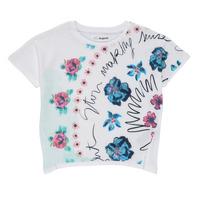 vaatteet Tytöt Lyhythihainen t-paita Desigual 21SGTK02-1000 Valkoinen