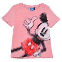 vaatteet Tytöt Lyhythihainen t-paita Desigual 21SGTK43-3013 Vaaleanpunainen