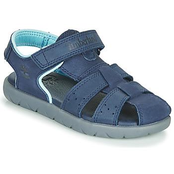 kengät Lapset Sandaalit ja avokkaat Timberland NUBBLE LEATHER FISHERMAN Sininen